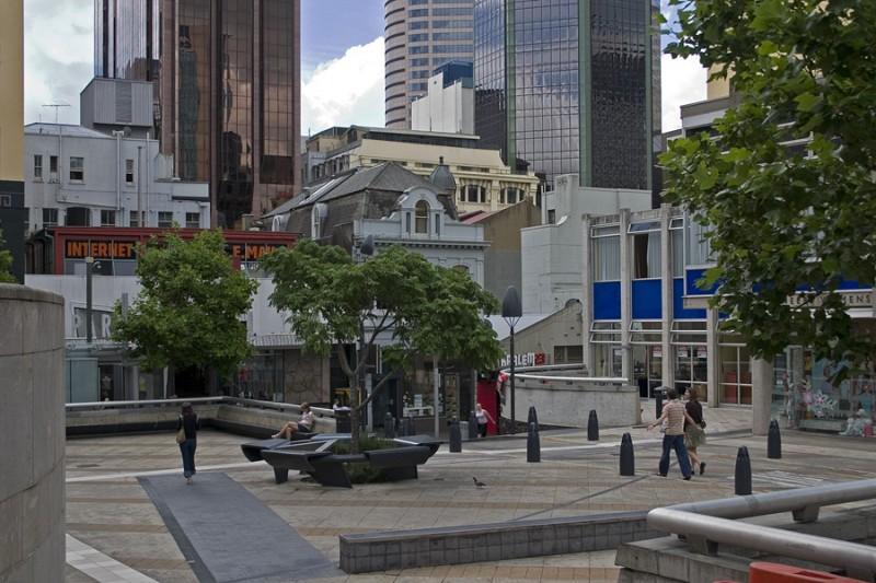 Downtown Auckland, near High Street