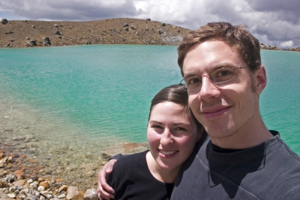 Aaron and Aurélie by Emerald Lake