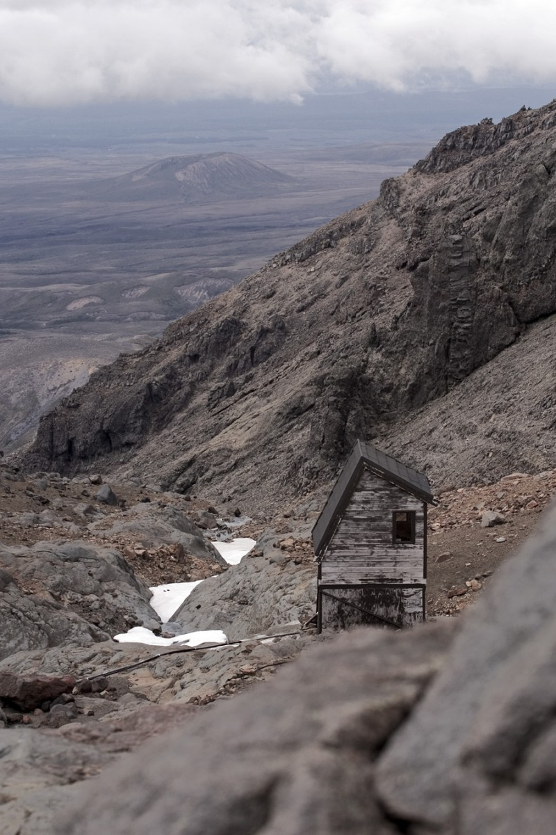 Wooden hut on Mount Ruapehu