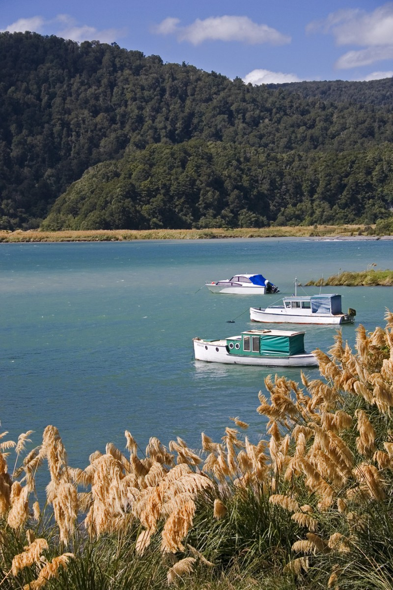 Boats on Lake Waikaremoana