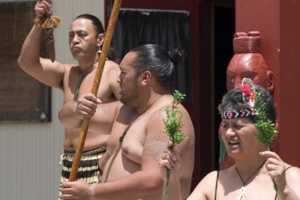 Maori welcoming cermony