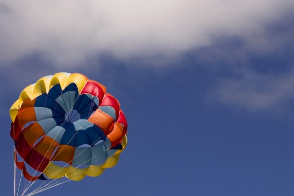 Paragliding with the clouds