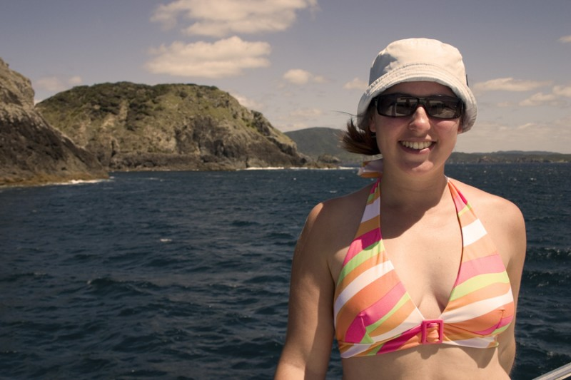 Aurelie in the Bay of Islands