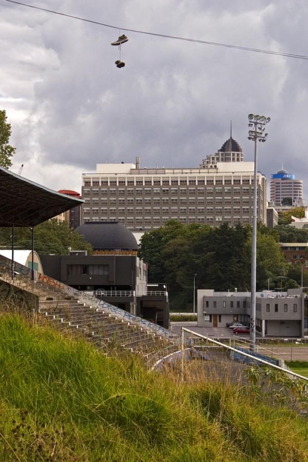 Old Auckland stadium in the bush