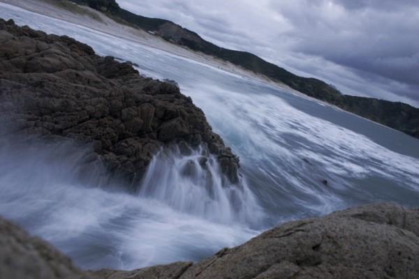Tide over the rocks
