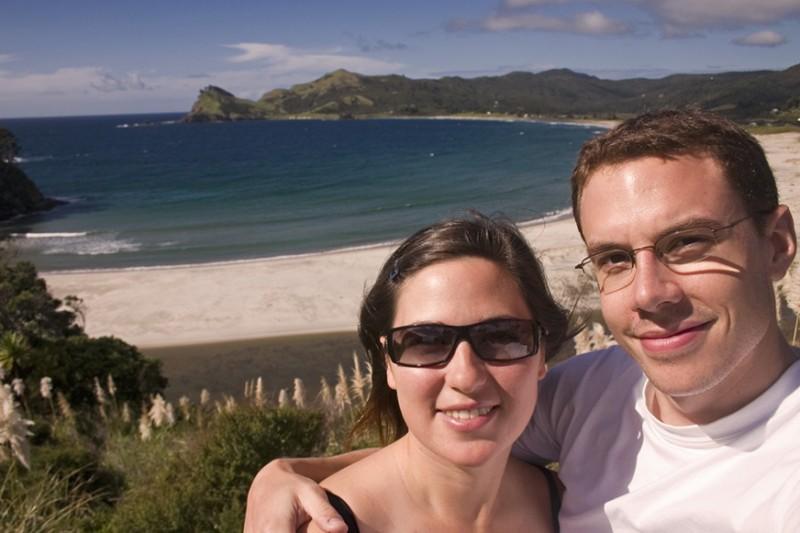 Aaron and Aurélie on Great Barrier