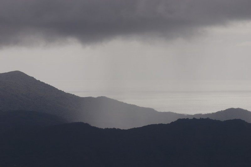Rain over Great Barrier Island