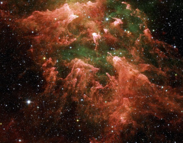 South Pillar of the star-forming Carina Nebula