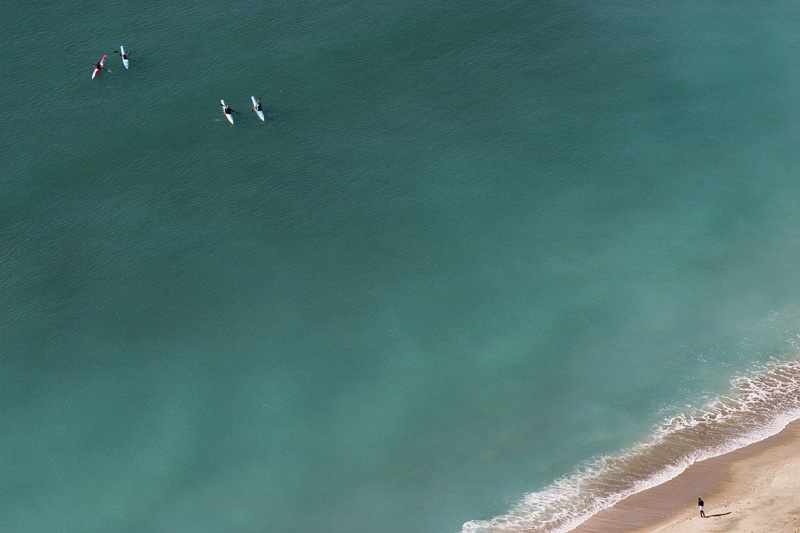 Kayakers on the turquoise sea