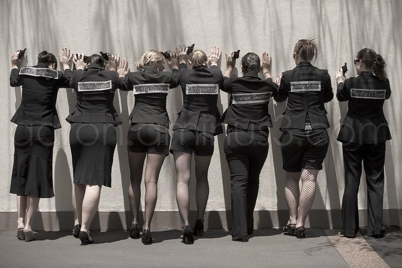 Bond girls lineup