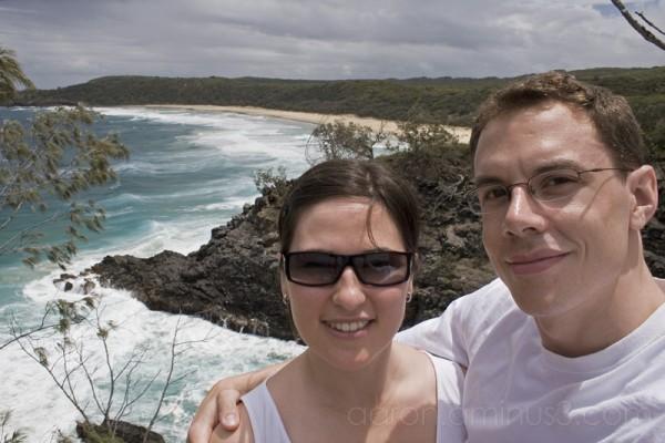 Aaron and Aurélie at Noosa National Park