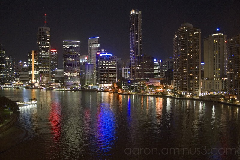 Brisbane downtown at night