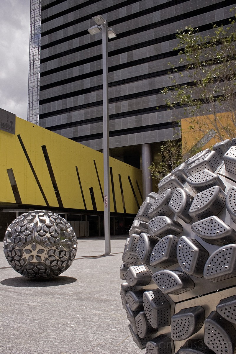 Steel balls at Brisbane library