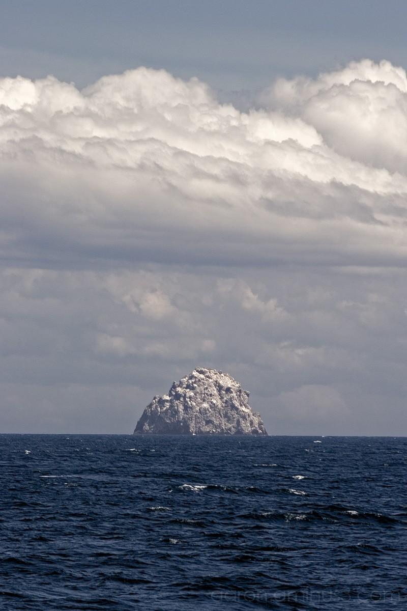 Lone island on the open sea