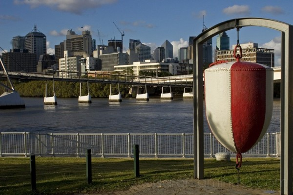 Large red buoy in Brisbane