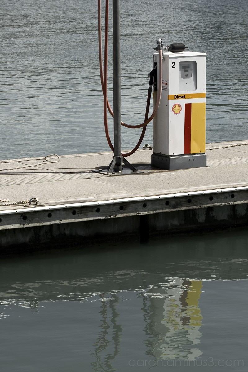 Gas pump on the dock