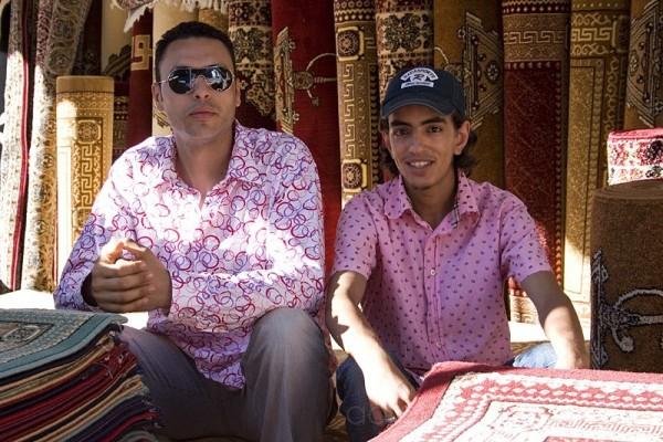 Pink shirt carpet sellers