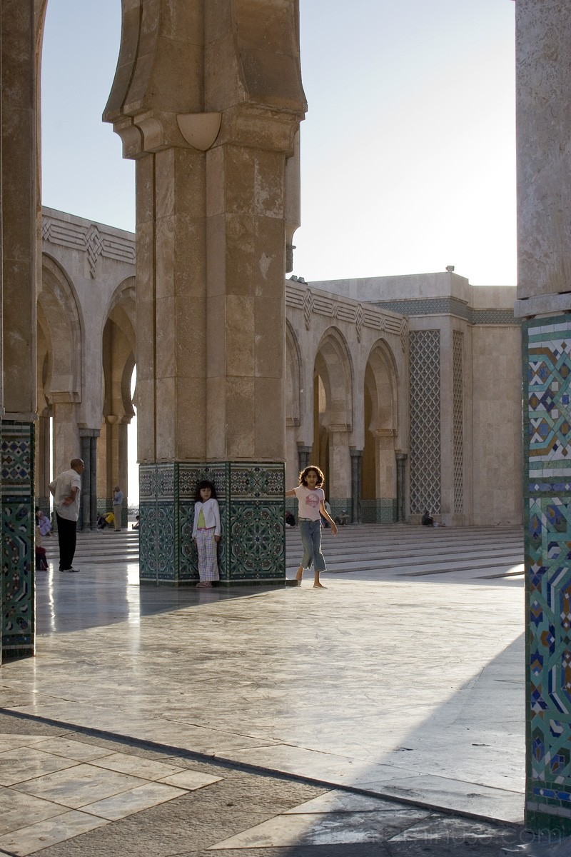 In the Courtyard of the Hassan II Mosque