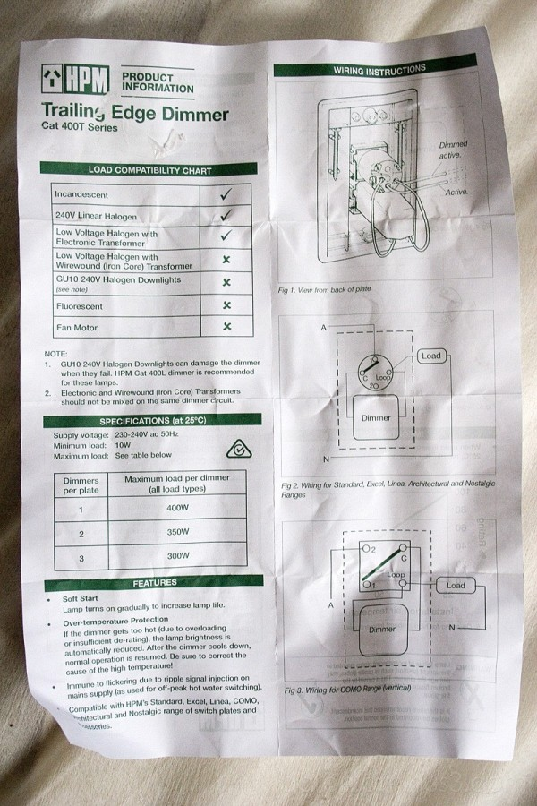 Guideline to Installing a Dimmer Switch