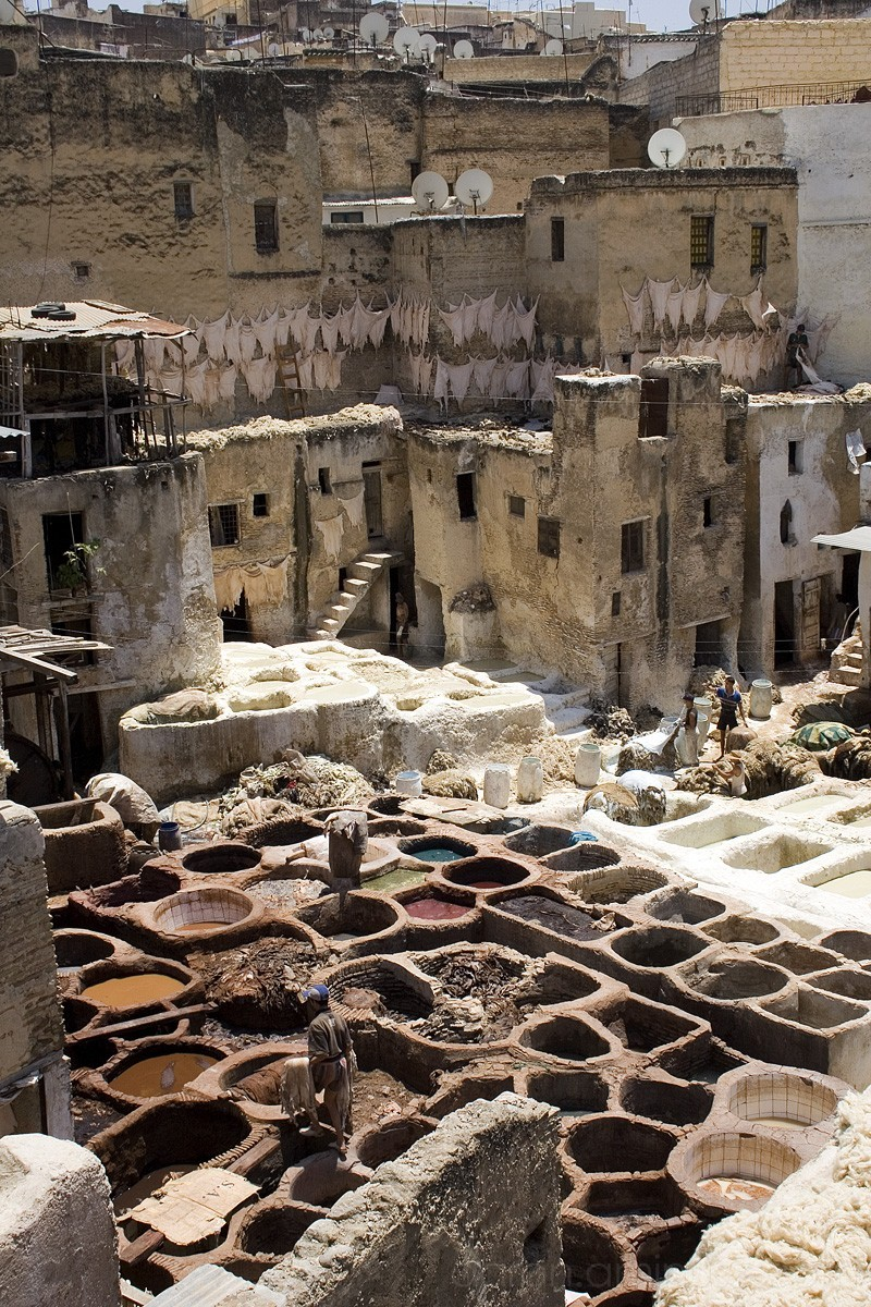 Tanners' Quarter, Fes, Morocco