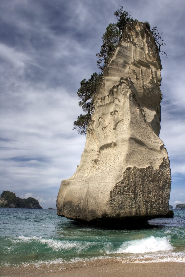 Pillar rock at Cathedral Cove