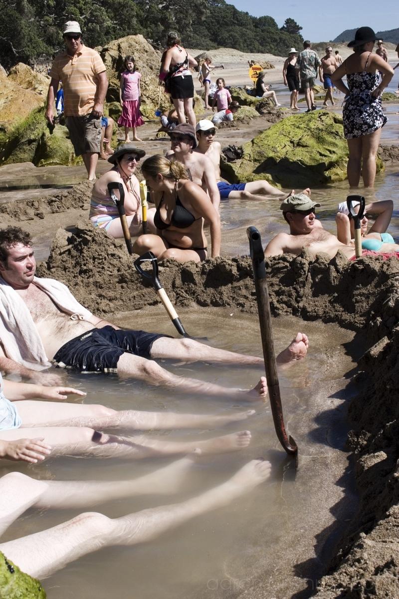 Hot Water Beach, Hahei, NZ