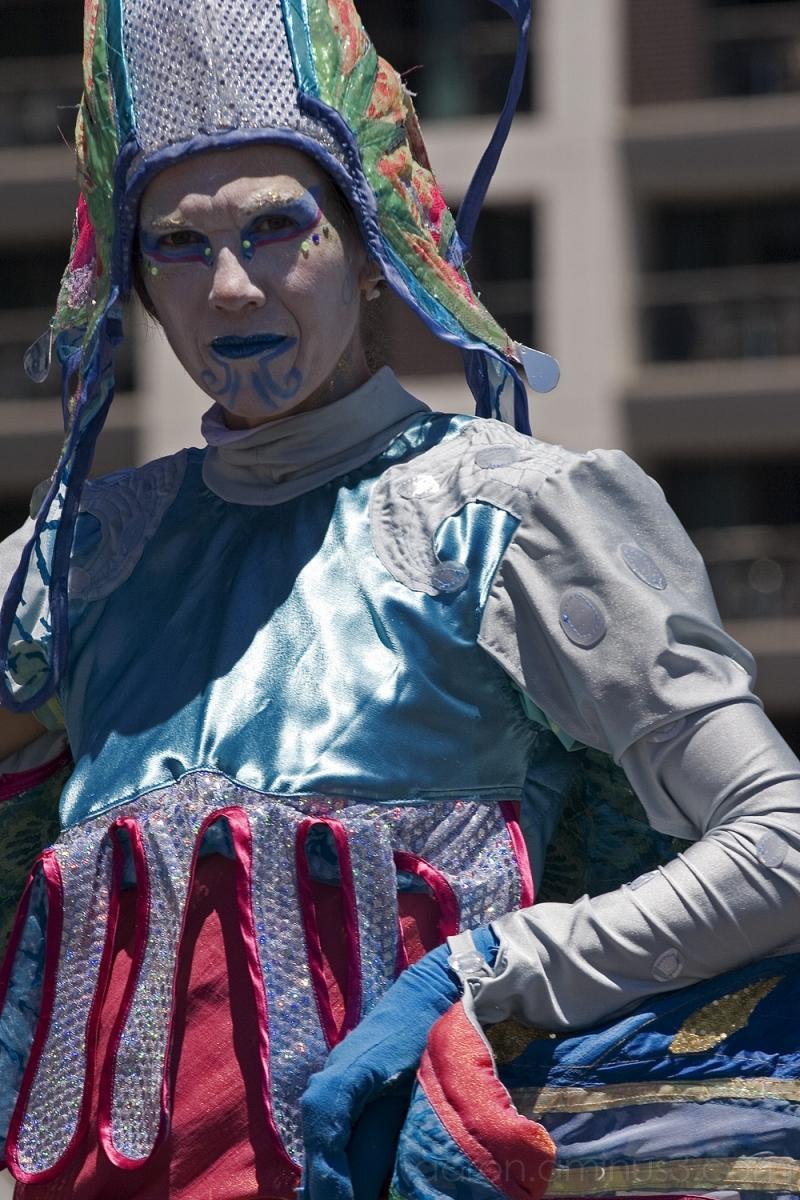 Street performer, Auckland festival