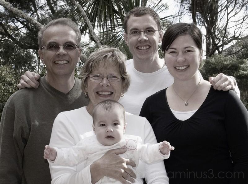 Solen with Schmidt Family, 6 months