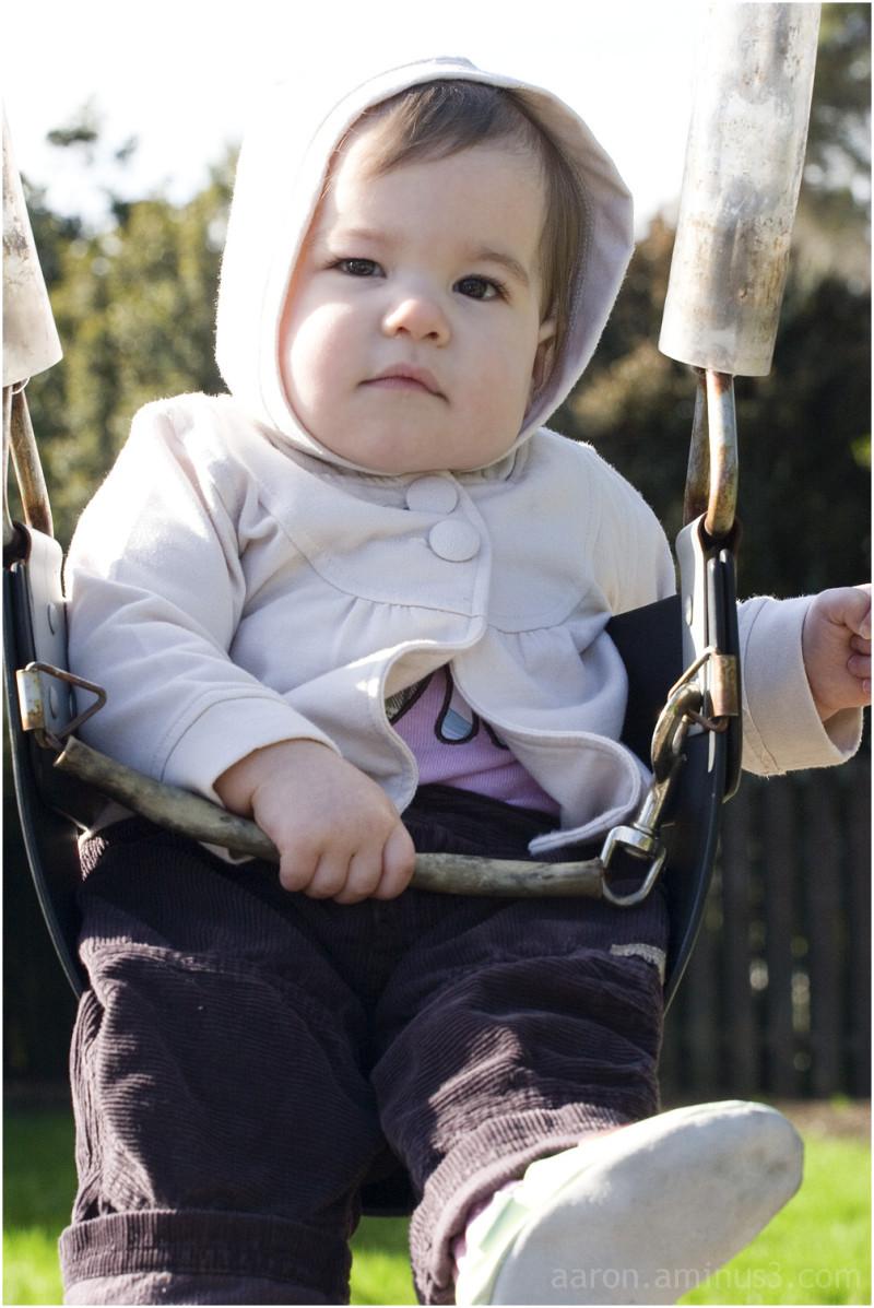 Solen on the swings