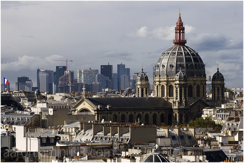 Saint-Augustin Church and La Defense
