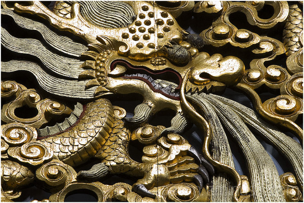 Dragon in gold
