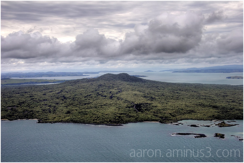 Rangitoto from the air