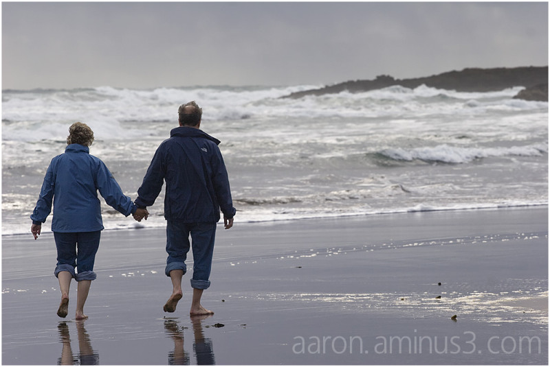 A walk on the windy beach