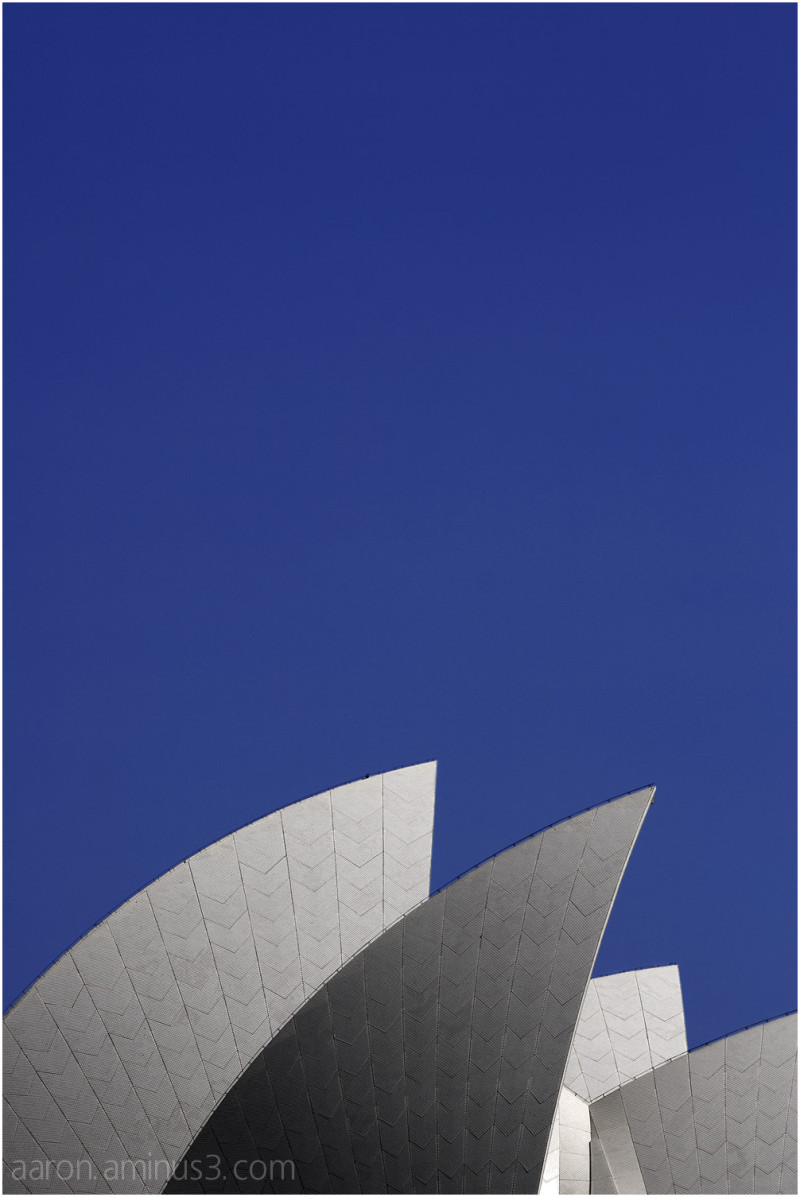 Sydney Opera House against blue sky
