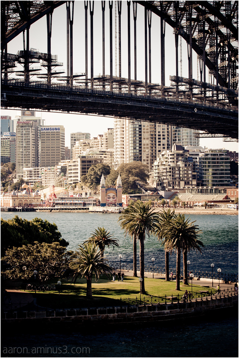 Sydney Harbour Bridge and Luna Park