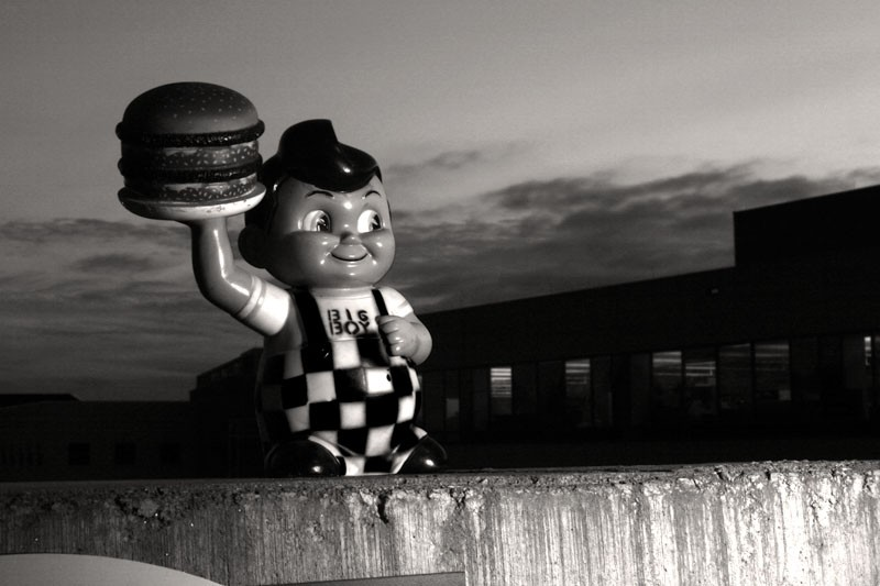 Bobs Big Boy in B&W