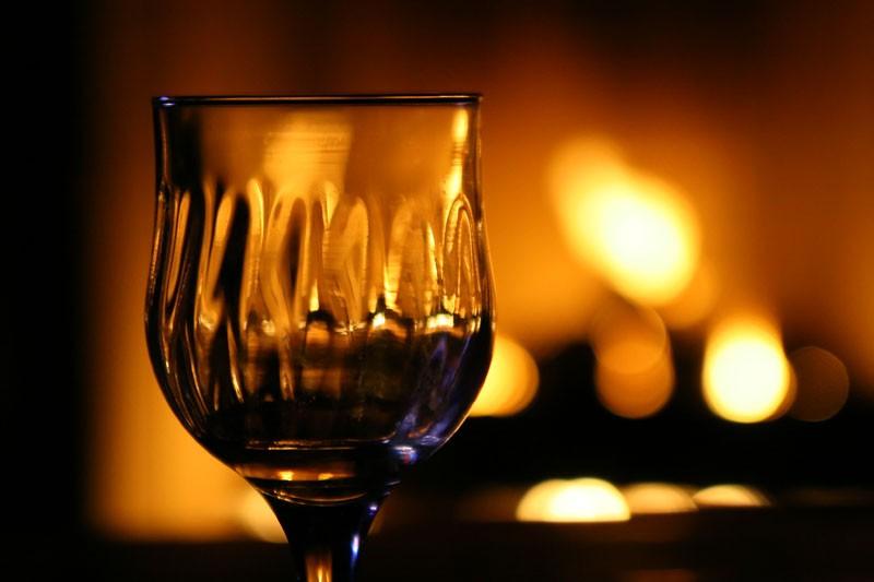 Fireside Glass of Wine