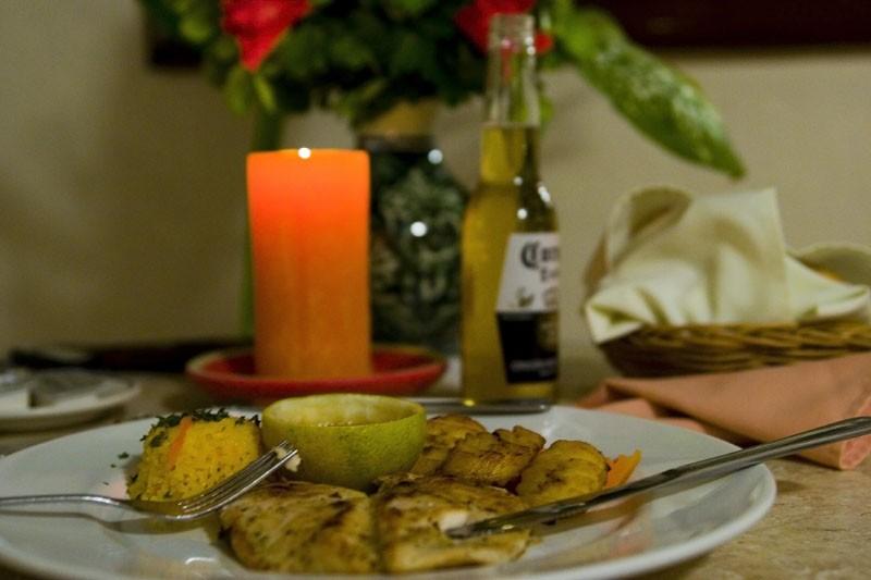 Dinner at Chichen Itza