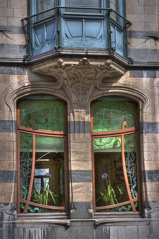 Brussels Art  Nouveau Windows