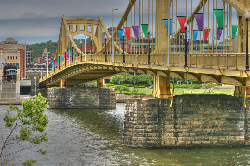 Roberto Clemente Bridge in HDR