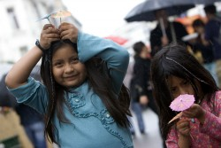 umbrella girls rain cute kids