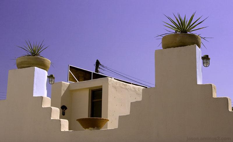 Crete Mexican style walls plants sky