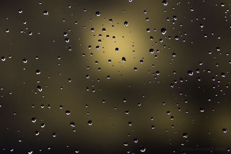 raindrop abstract bokeh yellowblack