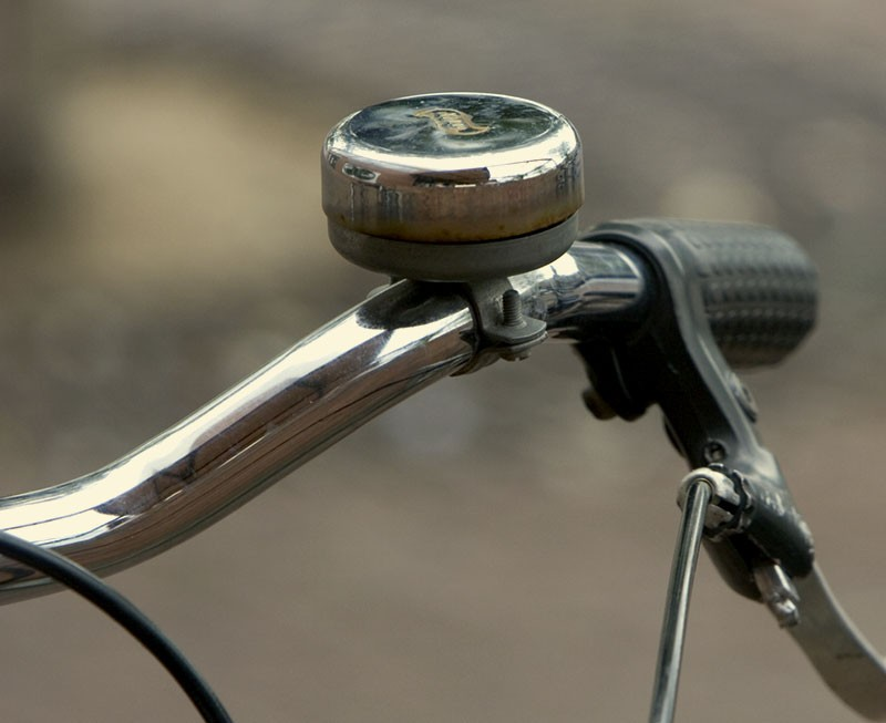 Amsterdam bike bell abstract
