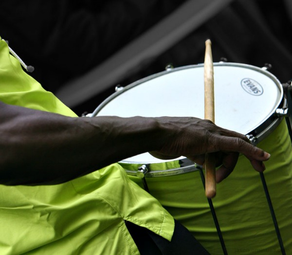 man playing snare drum