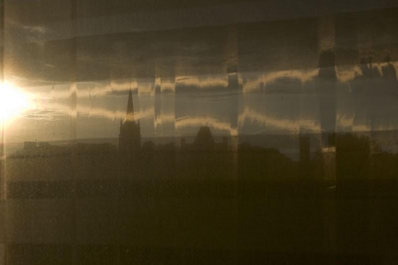 Sun curtain Drogheda Ireland church outside