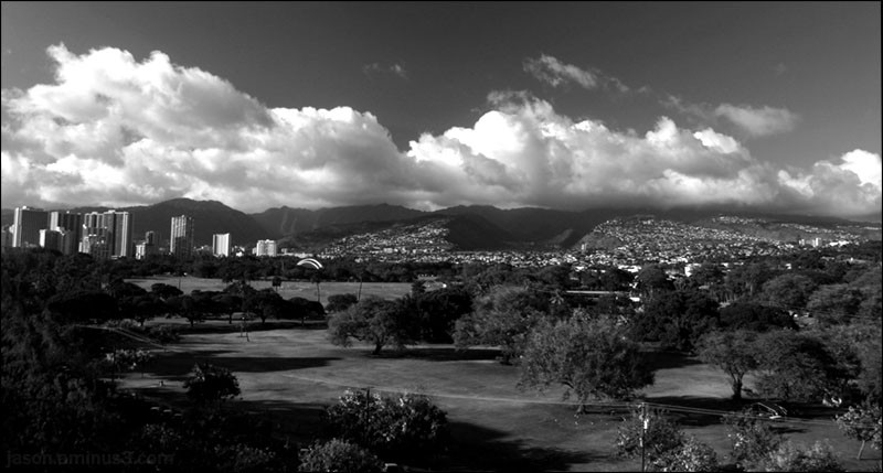 Honolulu City Clouds Trees