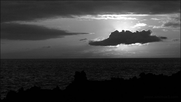 Hawaii Kona Sun Cloud Rays