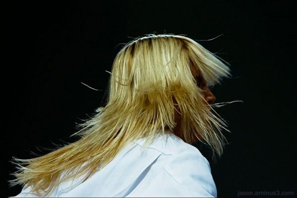 model hair flip backlight
