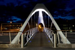 Drogheda Ireland Footbridge and Blue Night Sky